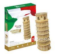 Leaning Tower Building CubicFun 3D di puzzle educativo Paper & EPS Modello Papercraft Casa Dell'ornamento per il regalo di compleanno di natale