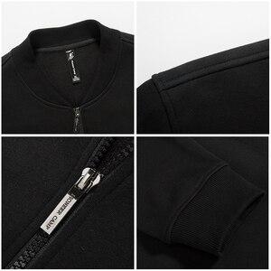Image 5 - Pioneer Camp warme dicke fleece hoodies männer marke kleidung feste beiläufige zipper sweatshirt männlichen qualität 100% baumwolle schwarz 622215