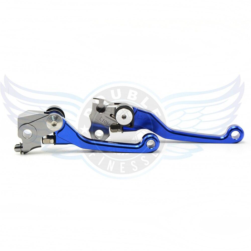 ФОТО new motorcycle folding Pivot Brake Clutch Levers cnc blue For Suzuki RM 125/250  2004 2005 2006 2007 2008 2009 2010 2011 2012