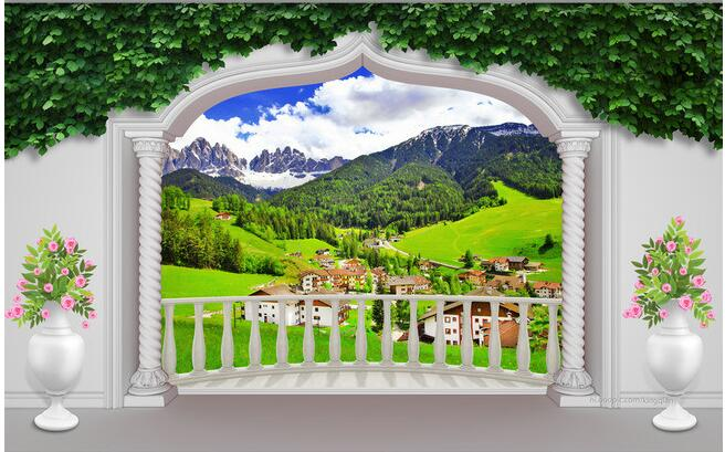 Custom 3d Mural Wallpapers Hd Landscape Mountains Lake: 3d Wallpaper Custom Mural Non Woven 3d Room Wallpaper 3d