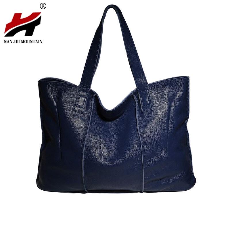 100% Genuine Leather Bag Large Women Leather Handbags Famous Brand Women Messenger Bags Big Ladies Shoulder Bag Bolsos Mujer