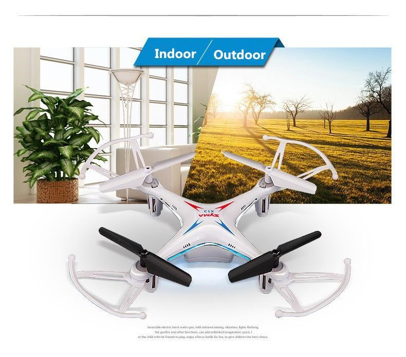 2 2015 New Arrival Syma X13 RC Mini Drone Helicopter  2.4G 4CH 6-Axis Quadcopter With 3D Flips Remote Control Toy