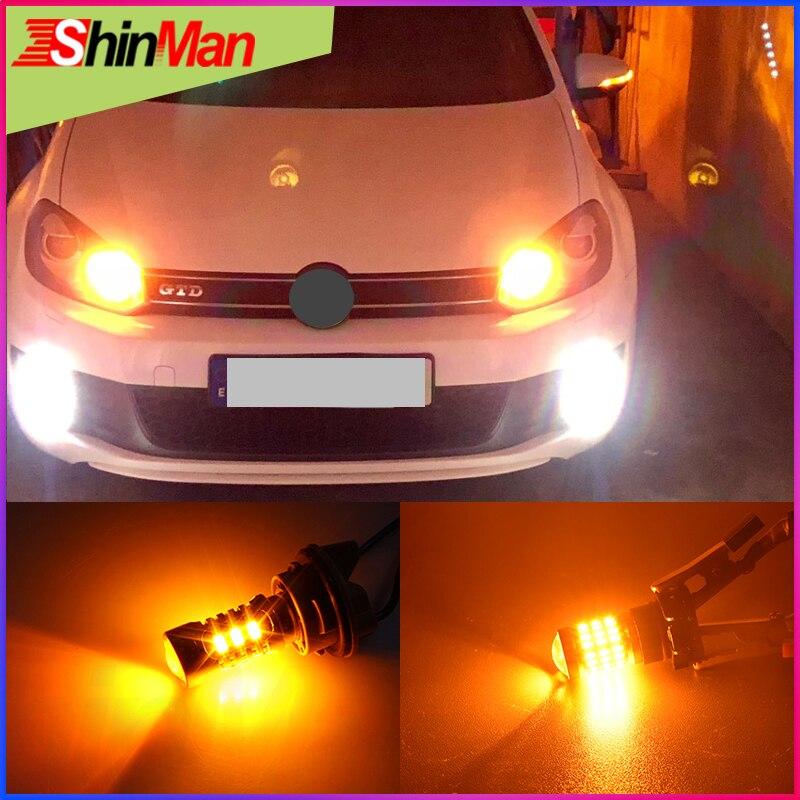 ShinMan высокое Мощность светодиодный автомобильный светильник s 5202 PSY24W PS19W PWY24W H16 светодиодный указатель поворота светильник светодиодный све...
