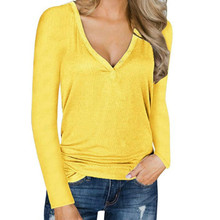 Female V-neck Shirt – Thin Blouse – Plus Size