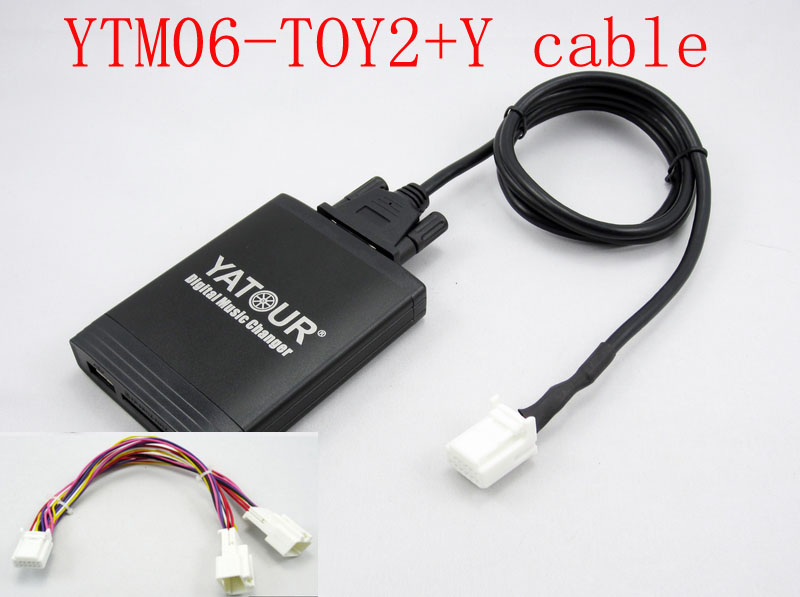 Yatour for Toyota Lexus Scion 2003 2013 With Y cable Car stereo USB SD MP3 Bluetooth