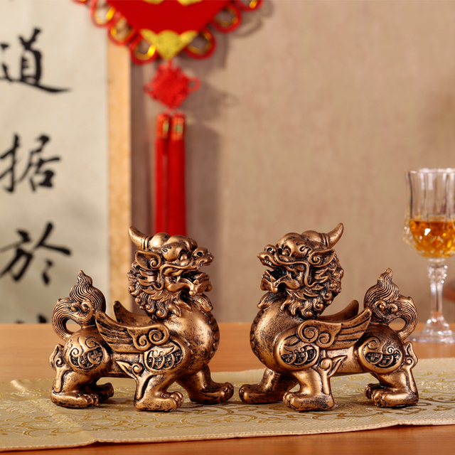 Lucky For A Brave Retro Ornaments Business Gifts Crafts Feng Shui Office  Auspicious Gift New