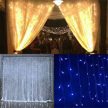 300 LED US Plug Window Curtain Lights String Christmas Party Home garden Decor LED Light outdoor modern lighting fixture