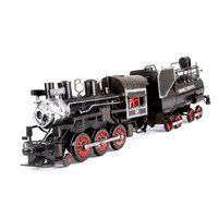 METTLE Handmade Welding Iron Detachable Steam Locomotive Train Model Steam Engine Knock Down Plug In Retro