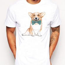2019 Summer Men T Shirts Newest Fashion Corgi Dog Design T-Shirt Short Sleeve Tops Cool Male Tee