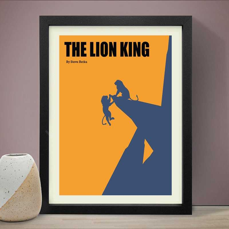 Classic Movie Poster The Lion King Canvas Art Prints , The Lobster and Big Fish Film Canvas Painting Wall Picture Art Wall Decor