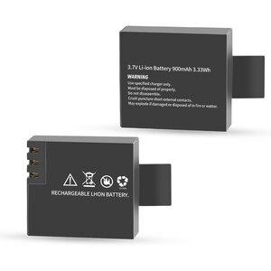 Image 3 - Chargeur de batterie double Port avec 2 pièces batterie 900mAh pour Sjcam M10 Sj4000 Sj5000 Sj 5000 caméra daction Sj9000 accessoire