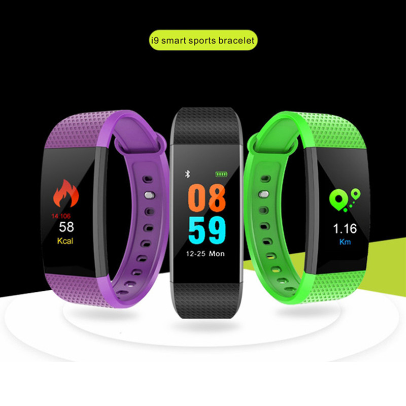 LYNWO I9 0.96 inch Color Screen Blood Pressure Heart Rate Monitor Smart Watch for Android iOS