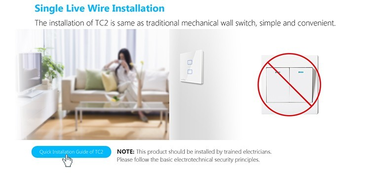 8-Broadlink TC2 2Gang Wifi Wall Light Smart Switch RF433MHZ Wireless Remote Control Smart Home Automation System Via Android IOS