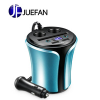 Dual usb port cup car power inverter 12v 220v charging car charger adapter for iPhone Samsung millet car charging