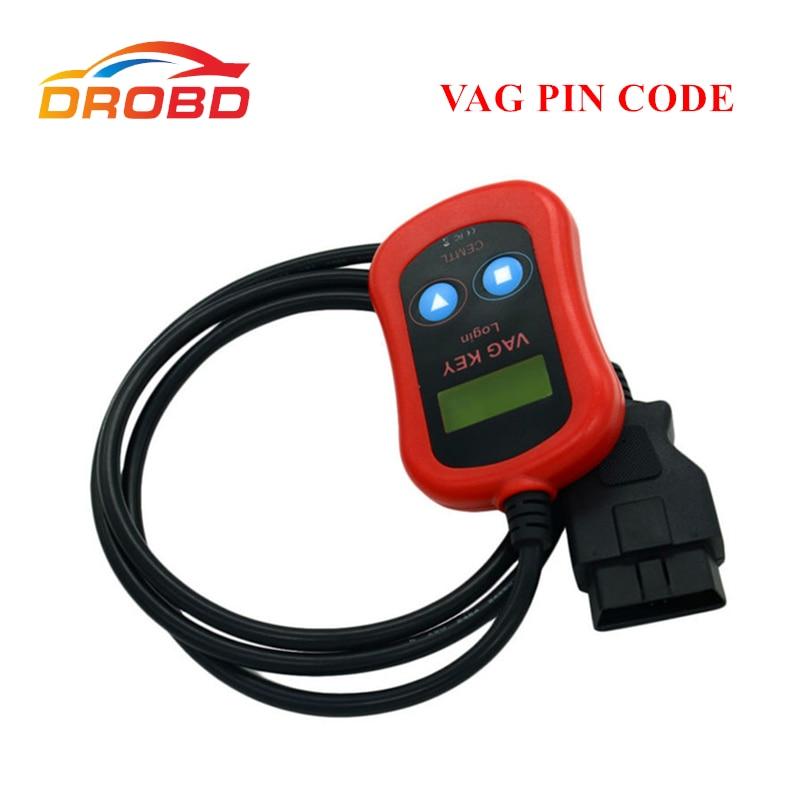 Meilleure Qualité Garantie VAG Code PIN Lecteur/Programmeur Clé Appareil via OBD2 Pour V-W/A-u d-i/S-k-o-d-a/Siège lire Le Code de Goupille