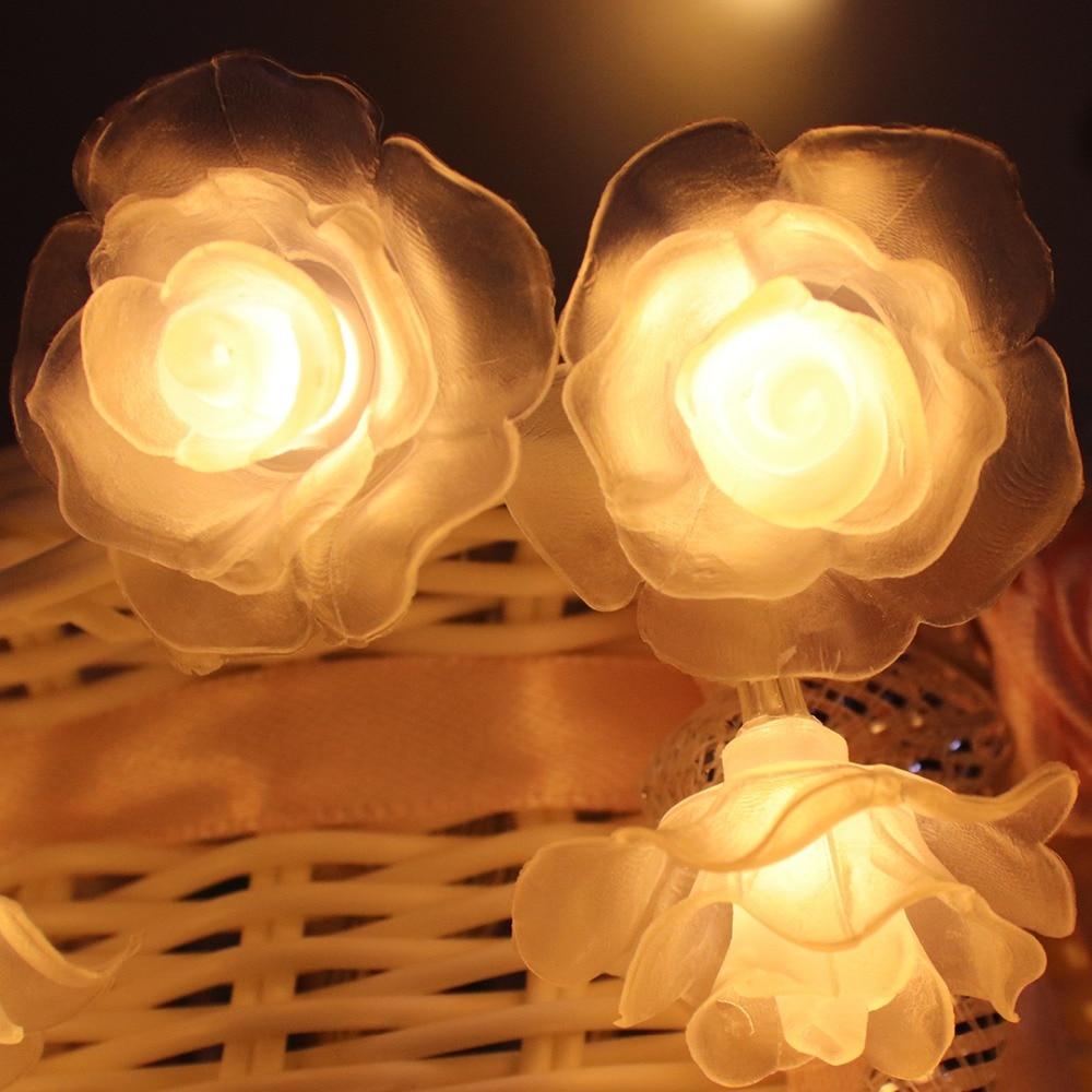 1 M-4 M Rose Slingers LED String Lights Night Decoratie Bloemen Licht - Vakantie verlichting - Foto 2