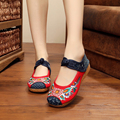 Hot sale Sunflower fashion women casual shoes quality embroidery soft thickening soles flats shoes for ladies order +1 size