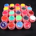 Pro 24 PCS Mix Colors Pearl UV Builder Gel Acrylic Nail Art Sets for Nail Tips Pink