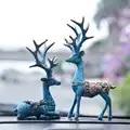 Автомобильные украшения с оленями, креативная Европейская внутренняя отделка, украшение для автомобиля, украшение для центральной консоли