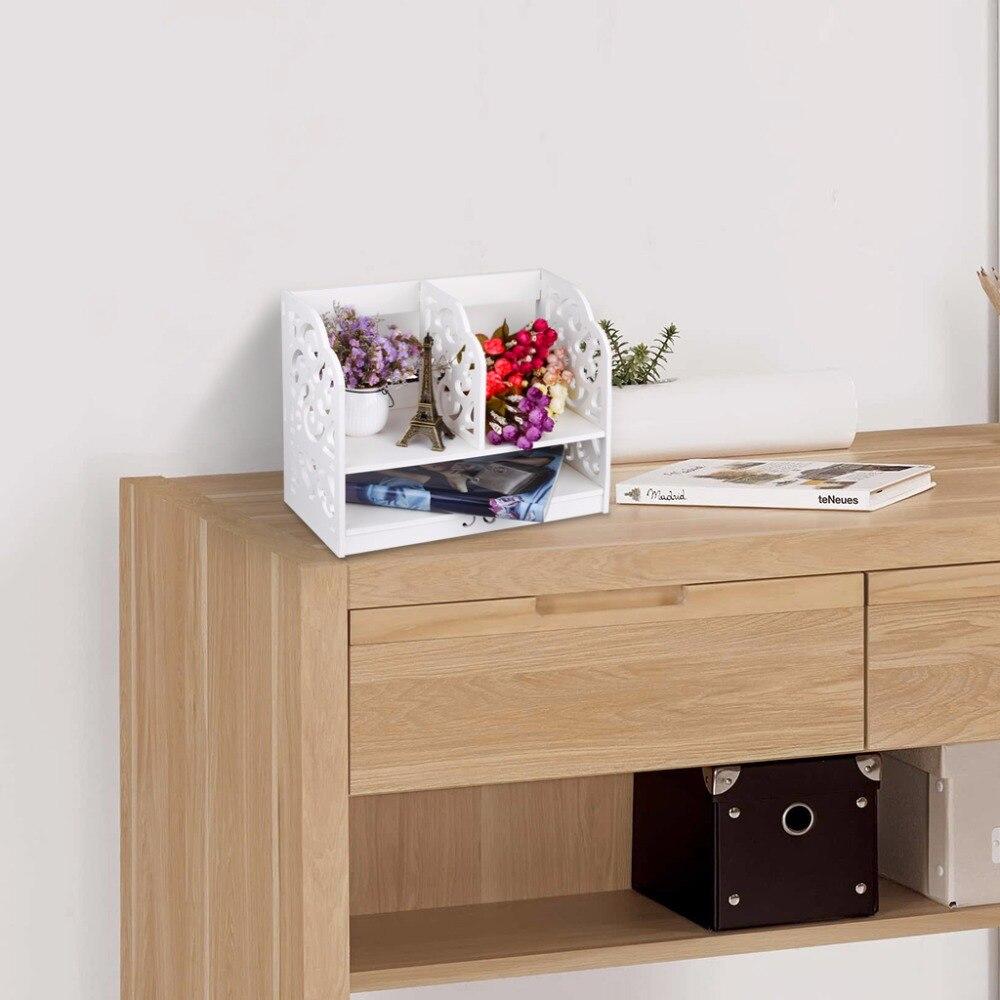 finether 2 tier cut out bois plastique composite tagre de bureau organisateur de stockage - Couisin En Bois Ehter