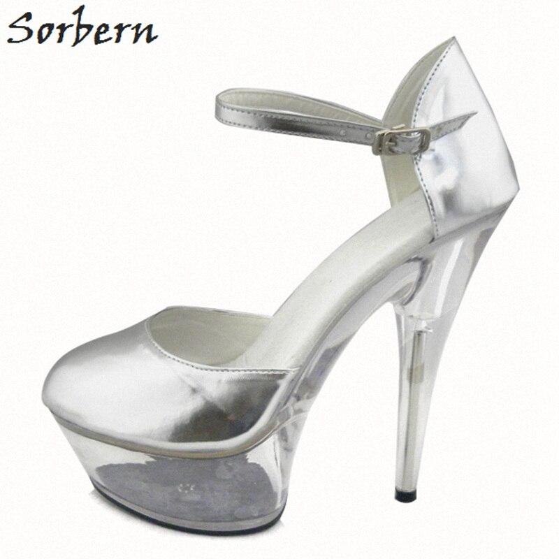 Здесь продается  Sorbern 15cm Silver Women Pumps Shoes Clear Heels Pumps Women Shoes Platform Fashion Ladies Party Shoes 2018 Ladies Pump  Обувь