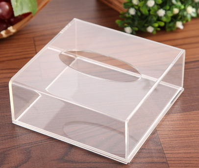 Home & Kitchen Acrylic Box Clear Toilet Paper Tissue Paper Dispenser Organizer Cover Holder