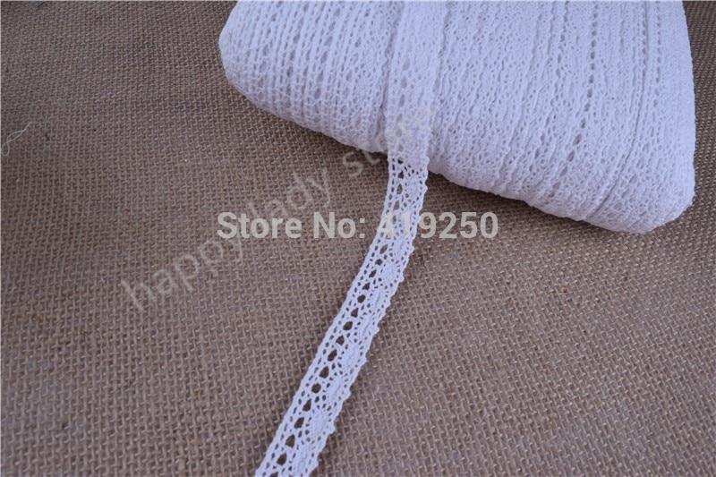 400Yards White color Cotton Lace Crochet Ribbon lace wholesale width 17mm Lace Trim Edging Wedding