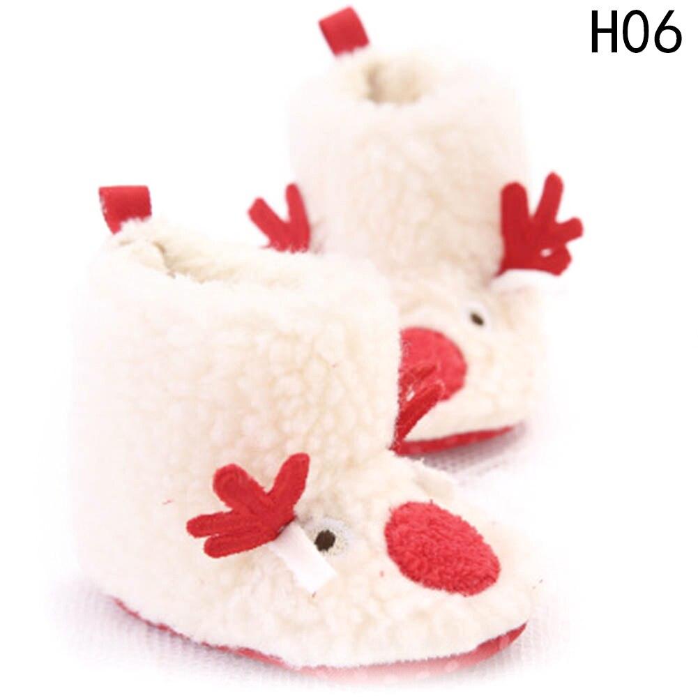 Baby Shoes Cute Christmas Unisex Warm Baby Slippers Newborn First Walkers Prewalker Santa Claus Booties Winter