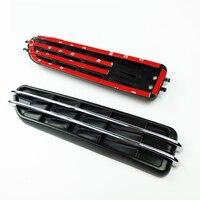 1 Pair Black Car Air Flow Side Fender Vents Mesh Sticker Grille for M BMW 3 Series 5 Series Auto Decorative Leaf Exhaust Outlet