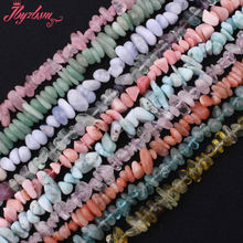 "3x6-6x9mm Freeform Apatite,Larimar,Labradorite,Granet Bead Natural Stone Beads For Necklace DIY Jewelry Making 15"" Free Shipping(China)"