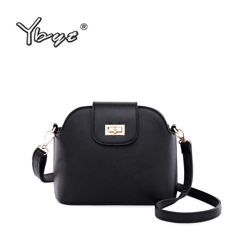 YBYT Brand 2019 New  Vintage Casual Lock Shell Bag PU Leather Women Strap Satchel  Fashion Shoulder Messenger Crossbody Bags