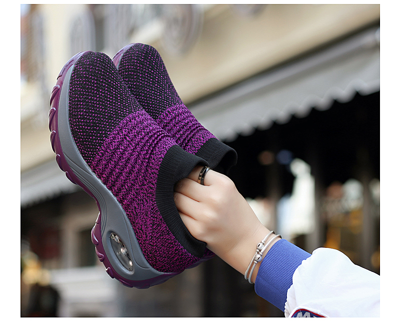 Breathable Mesh Platform Sneakers for Women