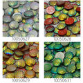 Lots of 50pcs 12mm Mermaid Cabochons AB Iridescent Mermaids Cabochon Fish Scale Dragon Snake Skin Cabochons-100506
