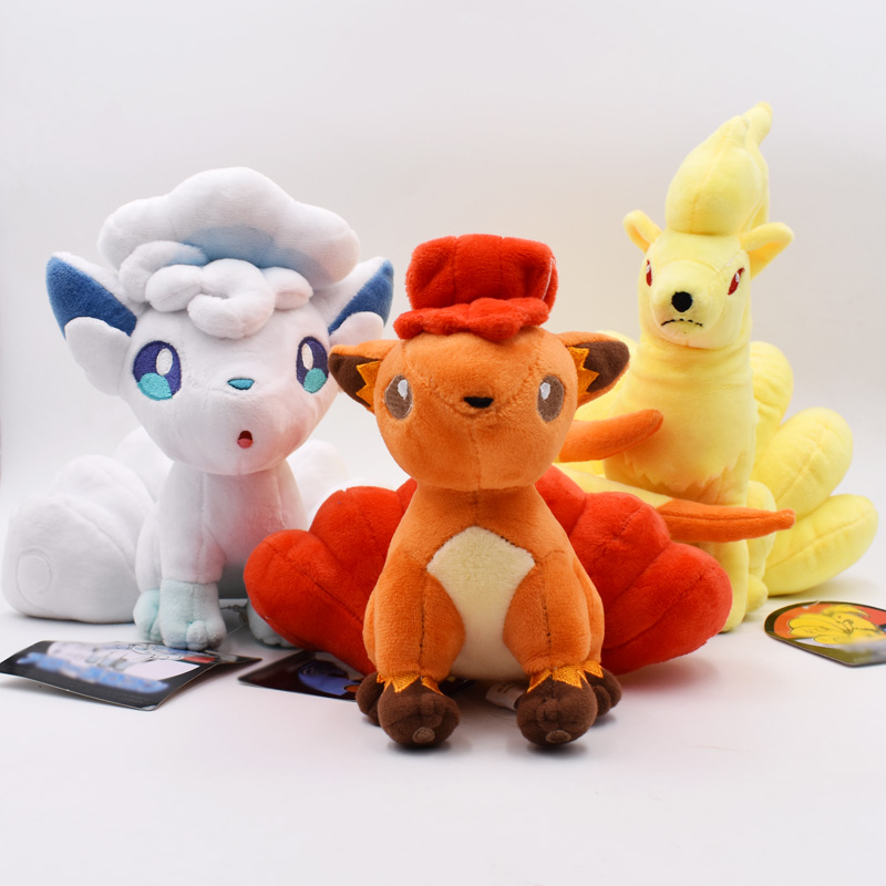 3Styles 15-21cm New Doll Plush Alola Vulpix Ninetales Plush Toy Stuffed Doll Soft Baby Toy Gift Free Shipping