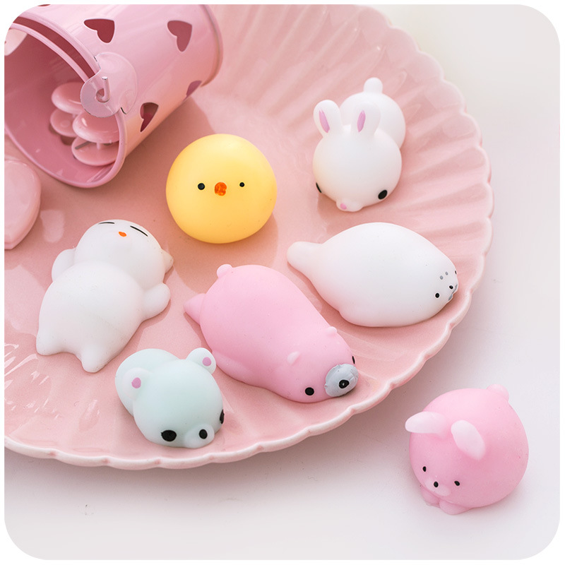 Mini Squishy Cute Cat Antistress Ball Squeeze Squishy Stress Abreact Soft Sticky Stress Relief Funny Gift Toy