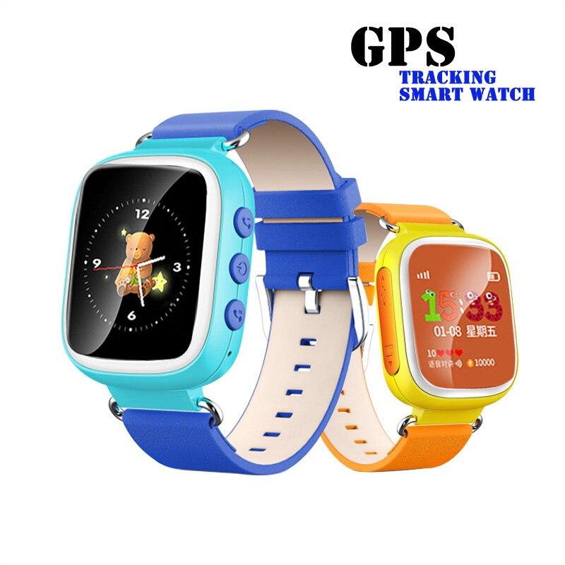 imágenes para Bebé inteligente Reloj relojes Tracker GPS Dispositivo de Localización de Llamadas SOS Q80 para los niños a Salvo Perdida Anti del recordatorio reloj PK Q50 Q90 smartwatch