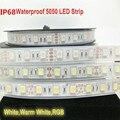 IP67/IP68 À Prova D' Água 5050 Tira CONDUZIDA DC12V/24 V 60 LED/M Tubo de Silicone À Prova D' Água de Alta Qualidade Tira CONDUZIDA frete grátis