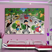 Alec Monopoly Cross The Road Wall Art Canvas Painting Posters Prints Modern Picture For Living Room Home Decor