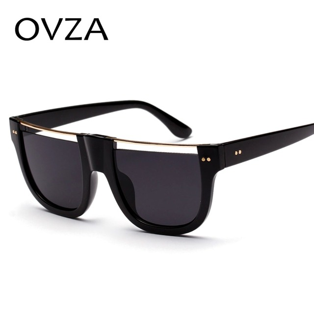 d74af673f39 OVZA Fashion Flat-top Sunglasses Mens Brand Designed Sunglasses Women  Openwork Vintage Eyeglasses High Quality