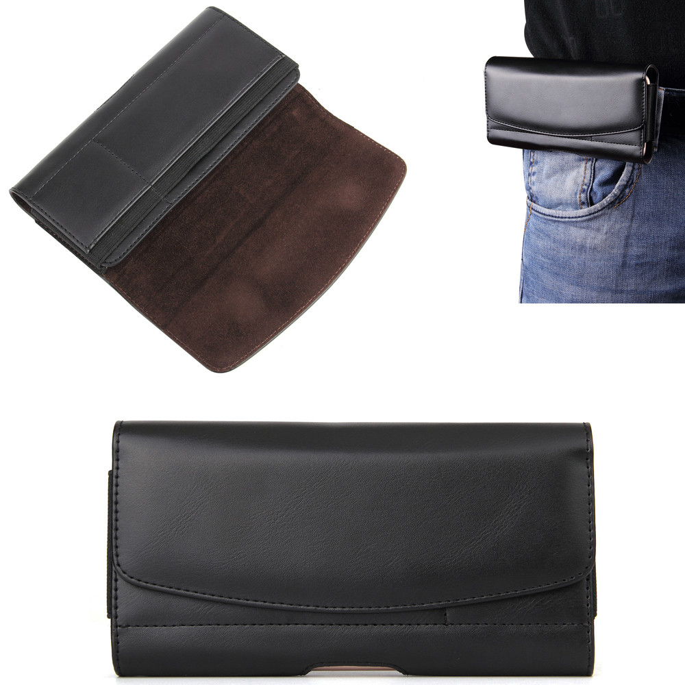 Leather Mobile Phone Belt Clip Case Pouch For HTC U11+/U11 Life/U11,One X10/E9S,U Ultra,Desire 10 Lifestyle/10 Pro,Butterfly 3