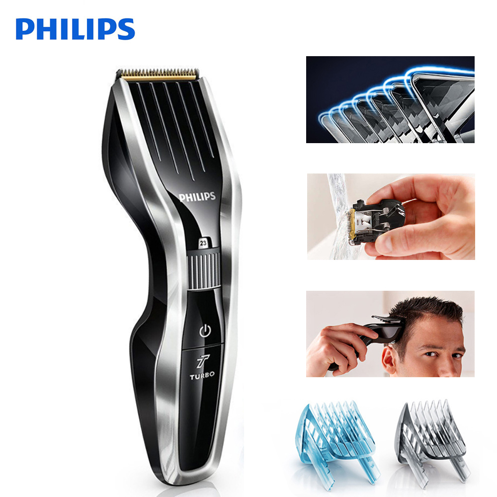 Philips tondeuse à cheveux HC5450 rasoir électrique avec lame Rechargeable en alliage de titane affichage LCD rasoir pour enfants et adultes