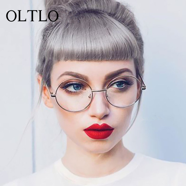 20f83caa64 OLTLO Korean Glasses Frames Retro Full Rim Gold Eyeglass Frame Vintage  Spectacles Round Computer Glasses Unisex