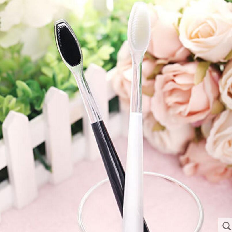 2db / szett Nano szuper puha fogkefe Felnőtt fej bambuszszén pár fogkefe Családi öltöny speciális csúszásmentes fogkefével