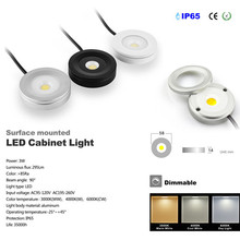 6pcs 3W led ip65 ceiling light free shipping AC COB dimming IP65 indoor and out door use led light for furniture(China)