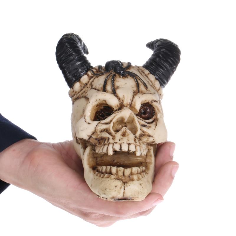 QT0002 Silicone halloween crâne gel de silice moule 3d Shofar tête de crâne savon gâteau chocolat musse moules cuisine à la main savon moule