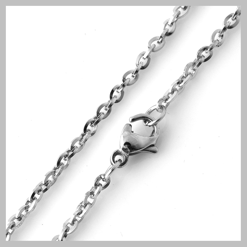 Easy Matching 316L Stainless Steel 2.0mm Thin Shiny Cross Chain With ...