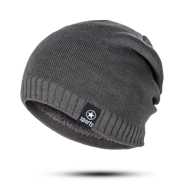 New Winter Solid Color Knitting Wool Hat 1
