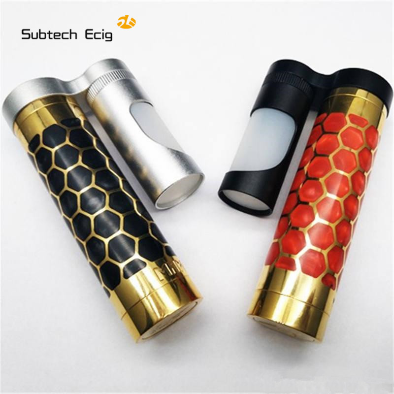 MECH MOD MAMDA RESINE 24MM ALEADER Authentic MAMBA MOD 18650 Hybrid e cigarette Mechanical mod vape for 510 Thread e xy ecig mod 510 diy connector spring loaded 510 connector for mech mod e cigarettes vv mods vape mod