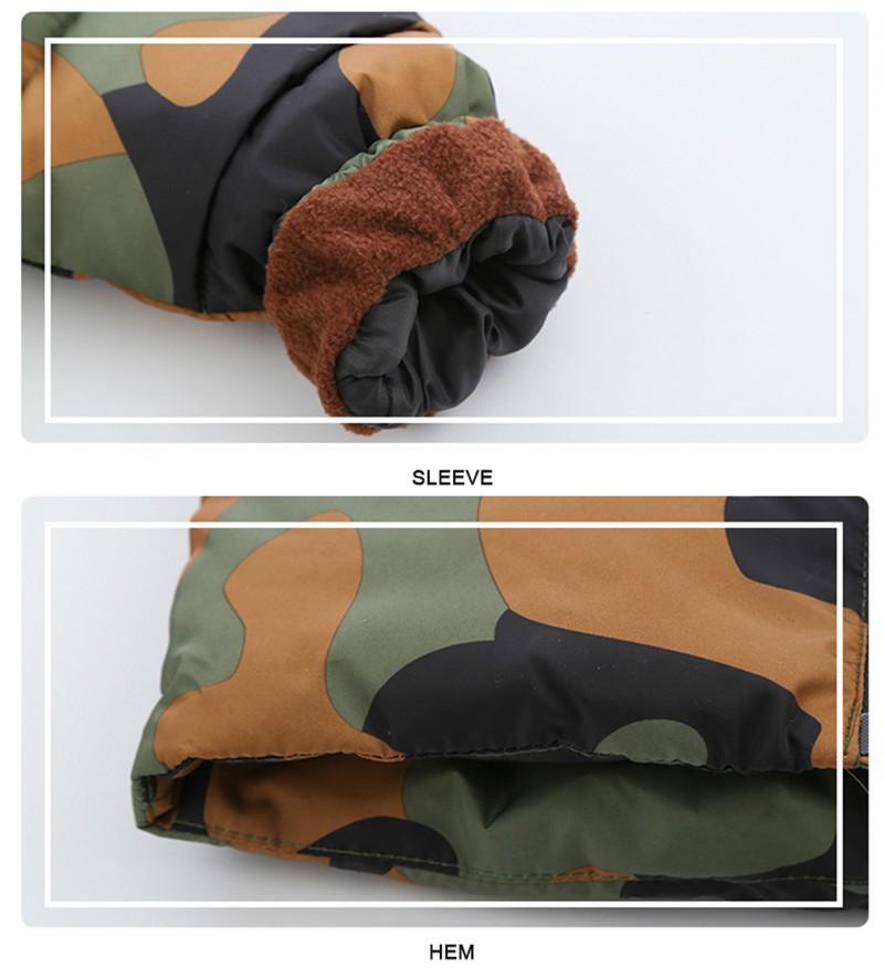 CROAL CHERIE 80-120cm Children`s Winter Jackets For Teenage Girls Warm Winter Parkas For Boys Camouflage Infant Overcoat (6)