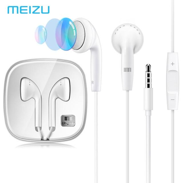 Earphones & Headphones Phone Earphones & Headphones 2019 Latest Design Original Meizu Ep21hd Earphone Deep Bass Stereo Sound Mic Volume Control For Meizu Mx3/mx4/mx5/mx6 Pro 5 6 7 M3 M5 Note 6 3 3s E Moderate Cost